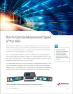 White Paper: How to Optimize Measurement and Transactional Speed of Your DAQ