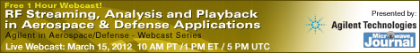RF Streaming, Analysis and Playback in Aerospace & Defense Applications