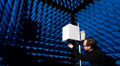 5G radio testing in an anechoic chamber. Source: Ericsson