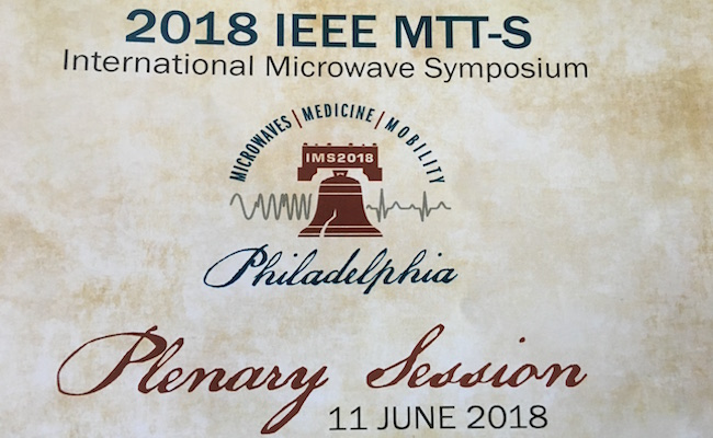 IMS2018 Plenary Recognizes Microwaves, Medicine and Mobility