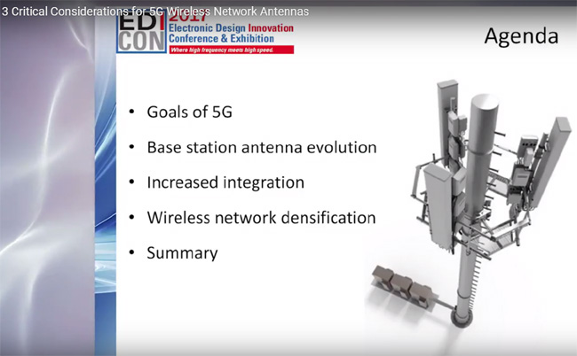 3 Critical Considerations for 5G Wireless Network Antennas Keynote Talk