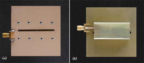Microwave slot antenna design