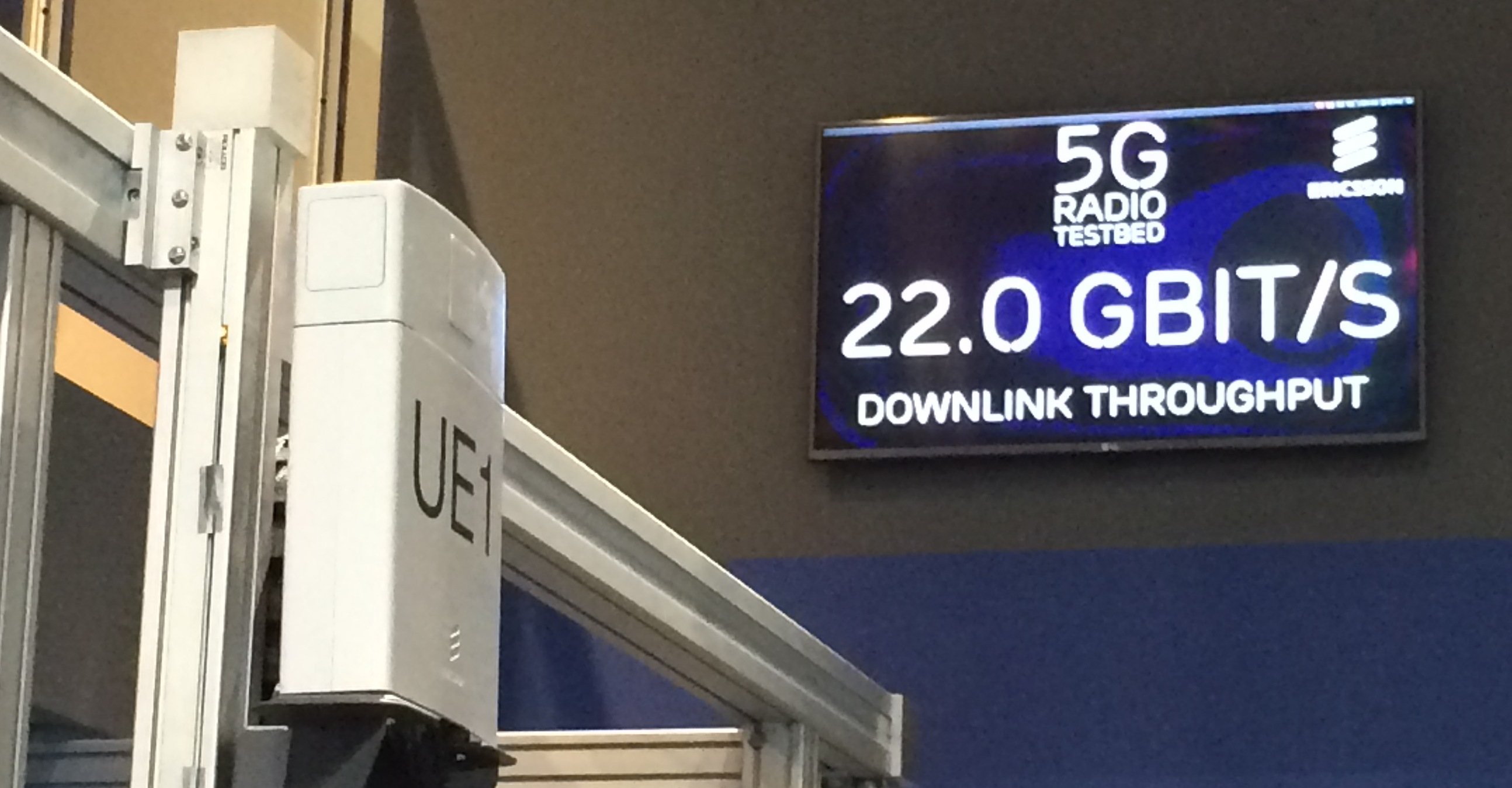 Ericsson's 15 GHz 5G test bed demonstrated data rates of up to 25 Gbps.