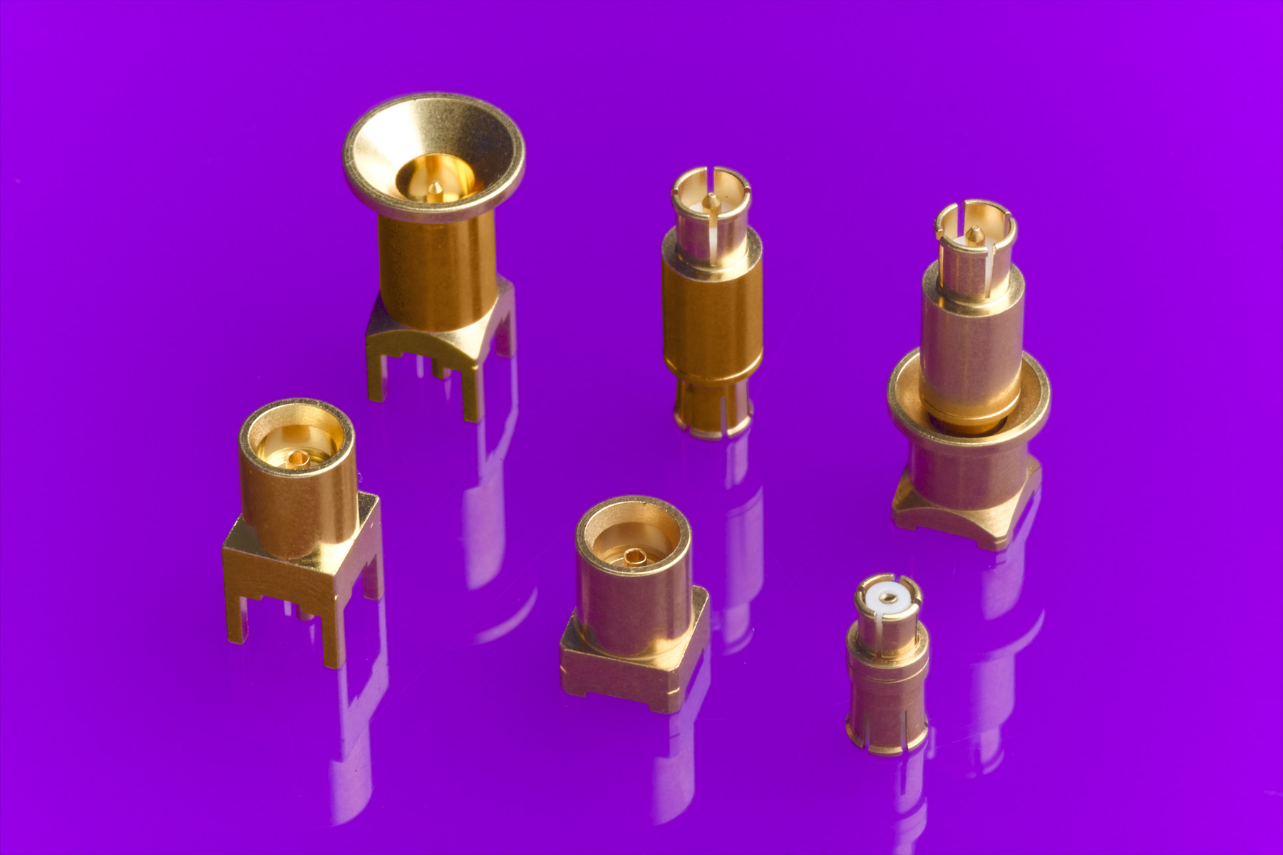 Molex Inc. and Radiall symmetrical adapters