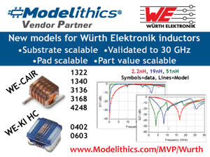 New Modelithics Microwave Global Models™ for Würth
