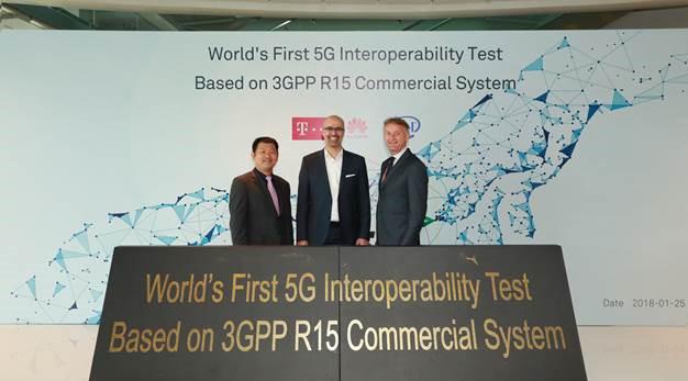 Deutsche Telekom, Intel and Huawei Achieve First 5G NR