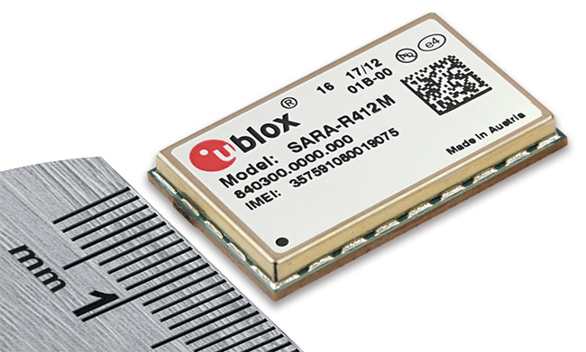 u-blox Introduces Smallest LTE Cat M1 and NB-IoT Multimode Module