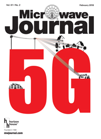 Microwave Journal cover, February 2018