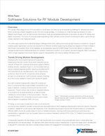 Software Solutions for RF Module Development