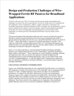 Design and Production Challenges of Wire-Wrapped Ferrite RF Passives for Broadband Applications