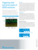 Triggering Read and Write Cycles of DDR3 Memories