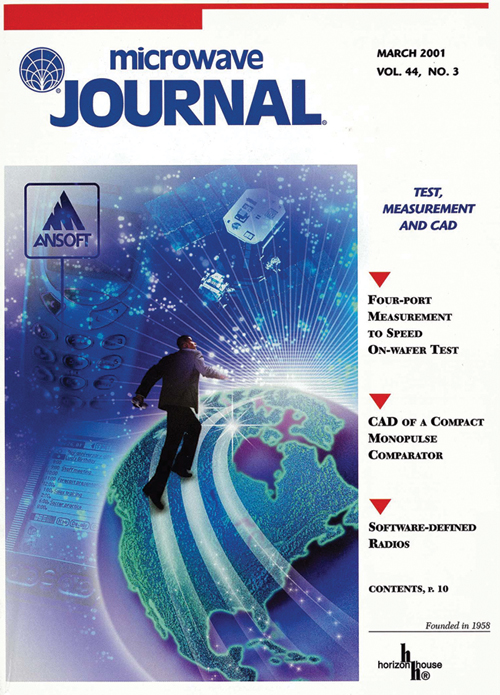 figure 1 march 2001 microwave journal cover featuring ansoft designer